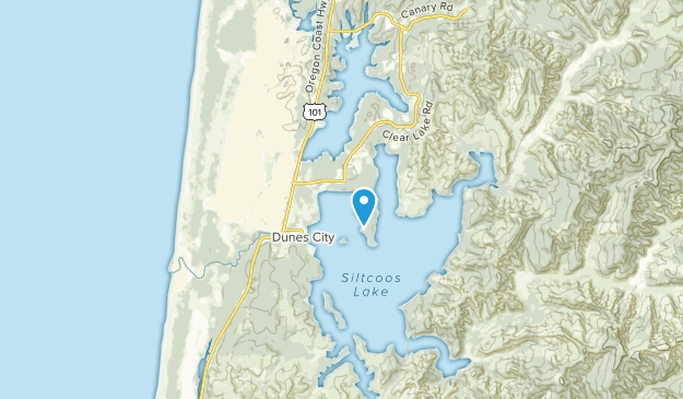 North Beach, Oregon Map