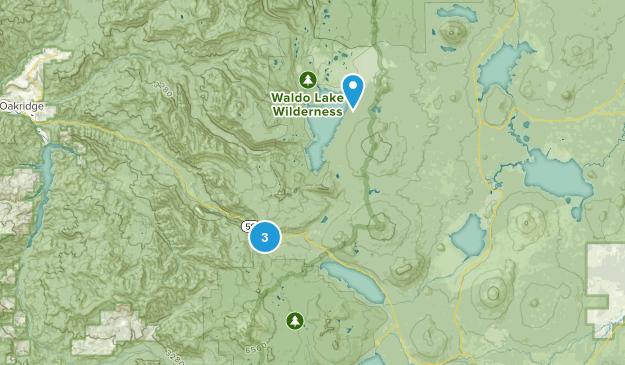 Odell Lake, Oregon Map