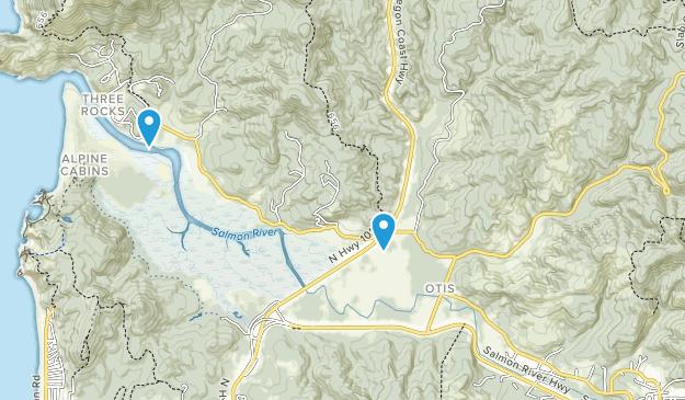 Otis, Oregon Map