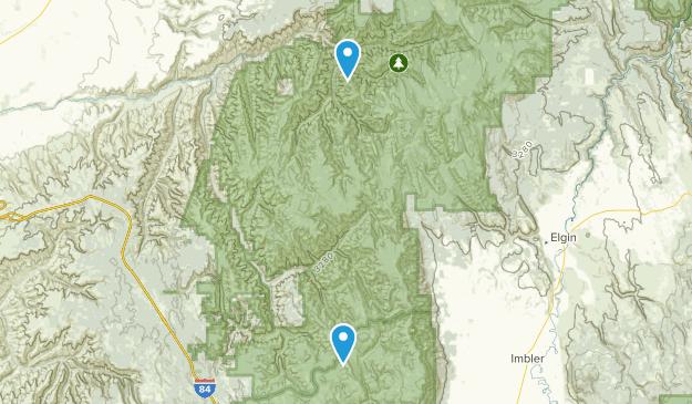 Pendleton, Oregon Map