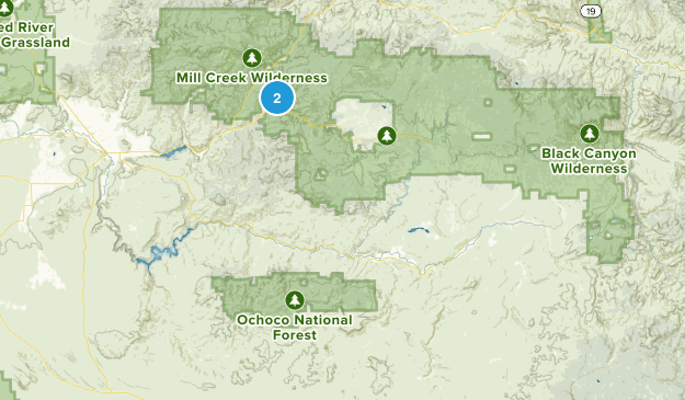 Post, Oregon Map