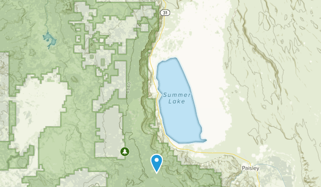 Summer Lake, Oregon Map