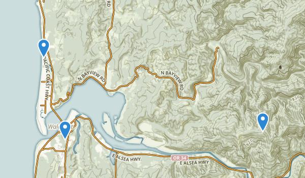 Waldport, Oregon Map