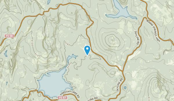 Wapanitia, Oregon Map