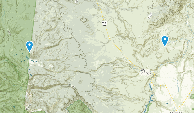 Warm Springs, Oregon Map