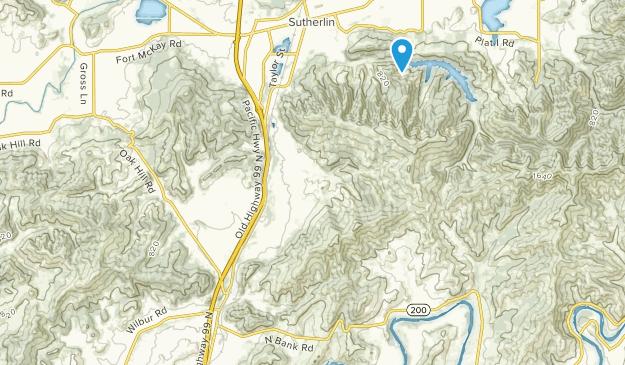 Wilbur, Oregon Map