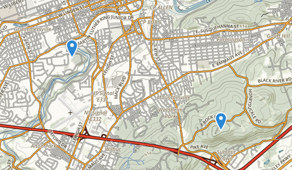 trail locations for Allentown, Pennsylvania
