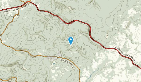 Bakersville, Pennsylvania Map