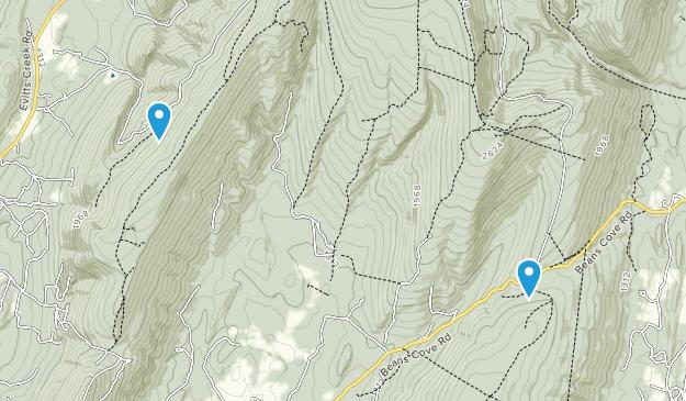 Beans Cove, Pennsylvania Map