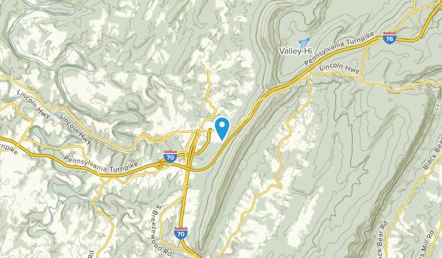 Breezewood, Pennsylvania Map