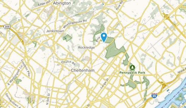 Cheltenham, Pennsylvania Map