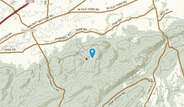 Dickinson, Pennsylvania Map