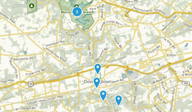 Downingtown, Pennsylvania Map