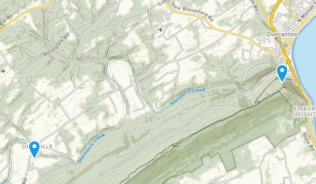 Duncannon, Pennsylvania Map
