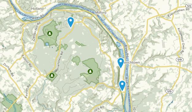 Erwinna, Pennsylvania Map