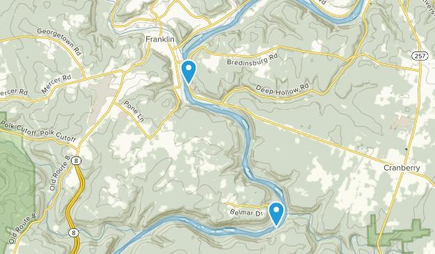 Franklin, Pennsylvania Map