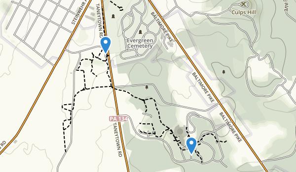 Gettysburg, Pennsylvania Map