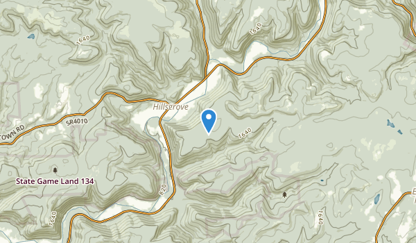 trail locations for Hillsgrove, Pennsylvania