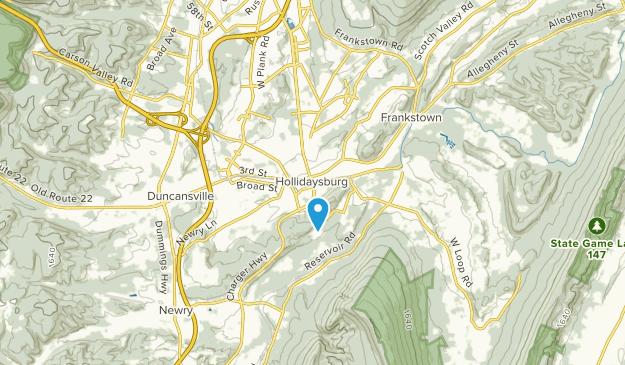 Hollidaysburg, Pennsylvania Map