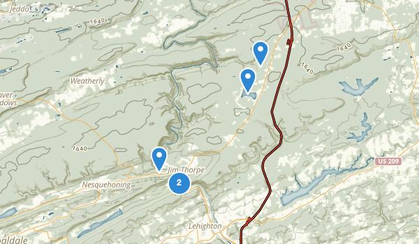 Jim Thorpe, Pennsylvania Map