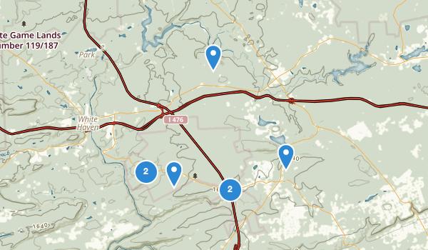 trail locations for Lake Harmony, Pennsylvania