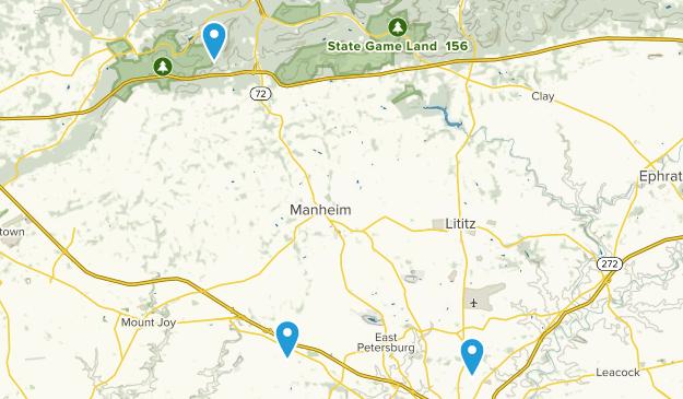 Manheim, Pennsylvania Map