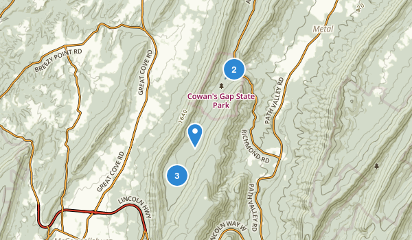 Mcconnellsburg, Pennsylvania Map