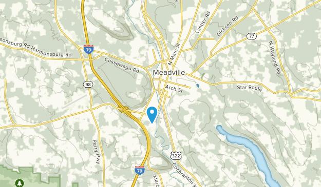 Meadville, Pennsylvania Map
