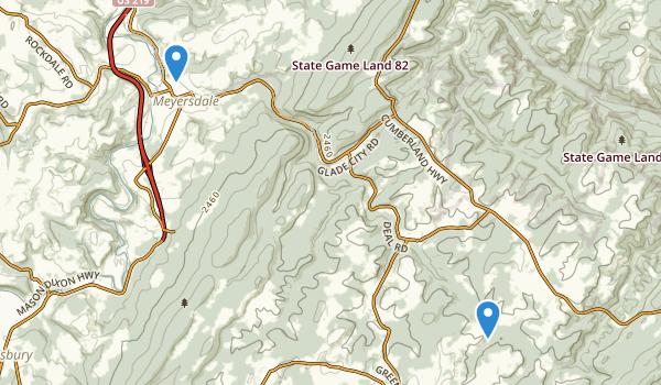 Meyersdale, Pennsylvania Map
