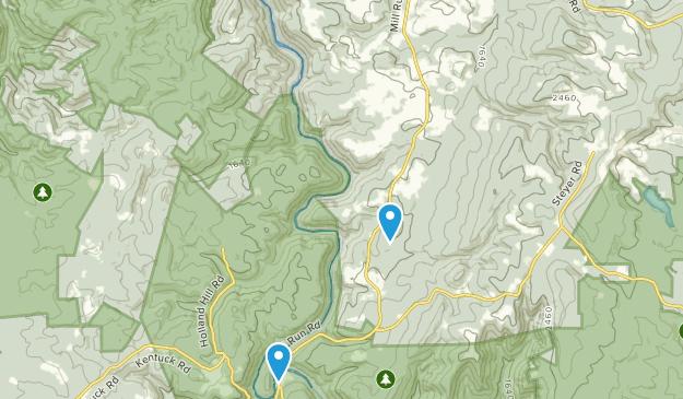 Mill Run, Pennsylvania Map
