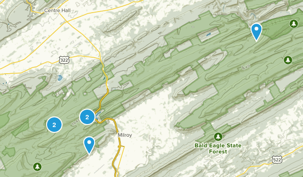 Milroy, Pennsylvania Map
