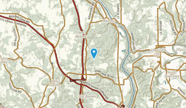 New Beaver, Pennsylvania Map