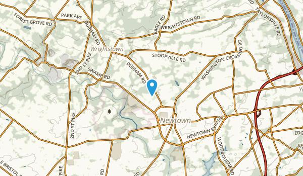 Newtown Grant, Pennsylvania Map