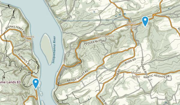 Pequea, Pennsylvania Map