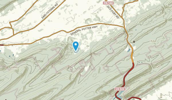 Potter, Pennsylvania Map