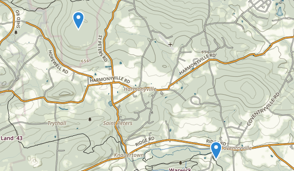 trail locations for Pottstown, Pennsylvania