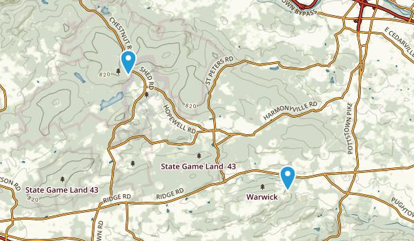 Pottstown, Pennsylvania Map