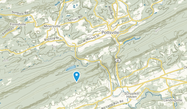 Pottsville, Pennsylvania Map