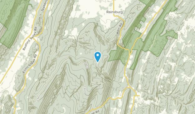 Rainsburg, Pennsylvania Map