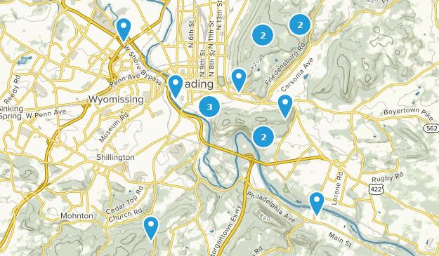 Reading, Pennsylvania Map