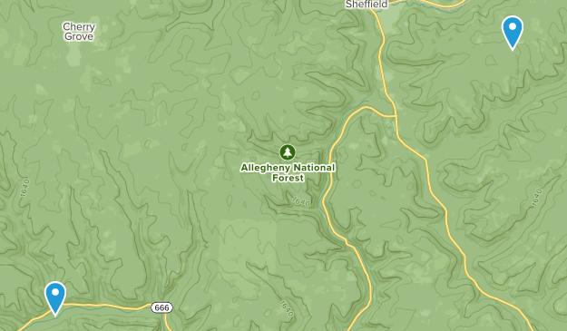 Sheffield, Pennsylvania Map