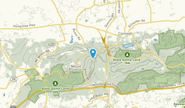 West Cornwall, Pennsylvania Map