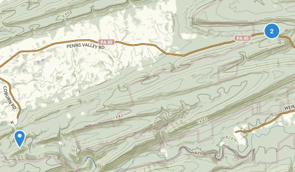 Woodward, Pennsylvania Map