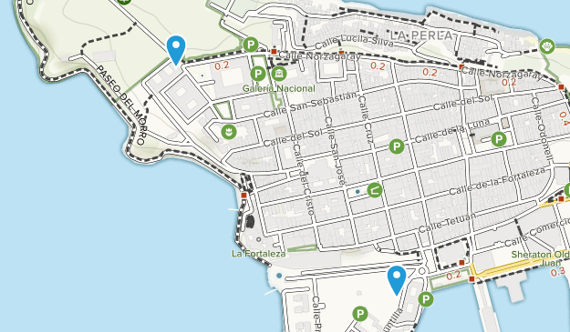 Viejo San Juan, Puerto Rico Map