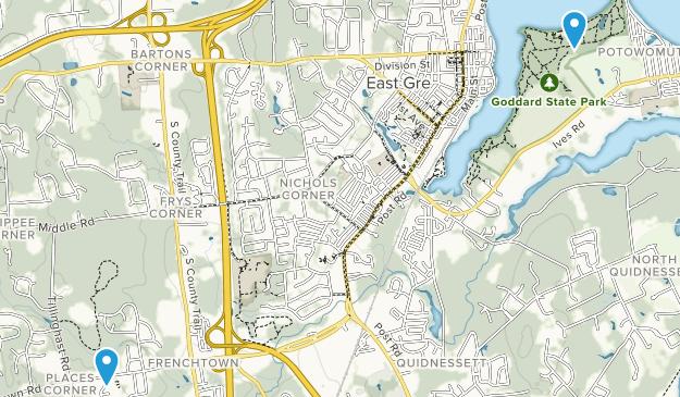 East Greenwich, Rhode Island Map