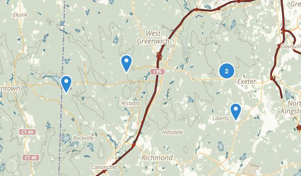 Exeter, Rhode Island Map