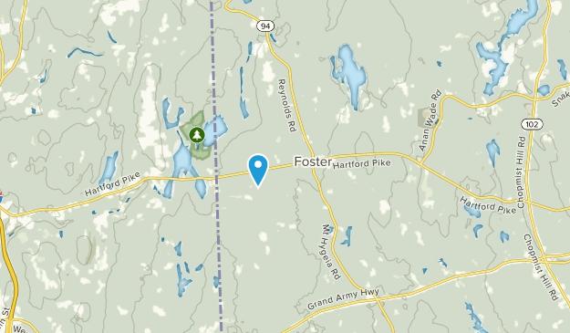 Foster, Rhode Island Map