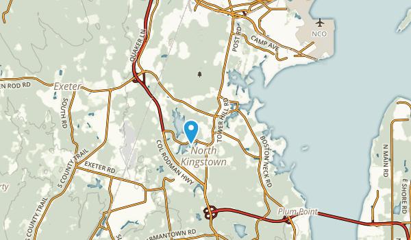 North Kingstown, Rhode Island Map