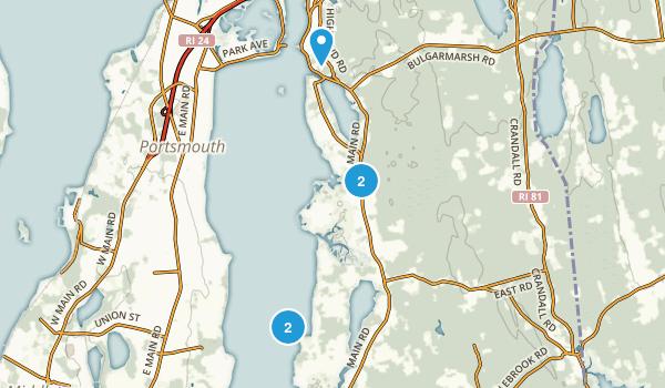 Tiverton, Rhode Island Map