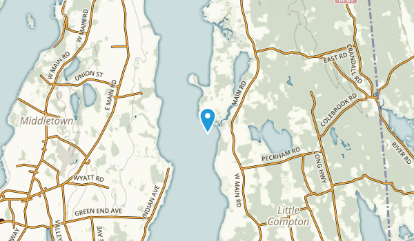 Tiverton Four Corners, Rhode Island Map